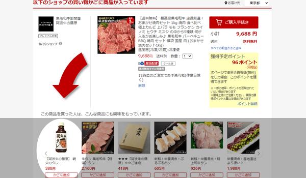 肉とタレ(カート画面)